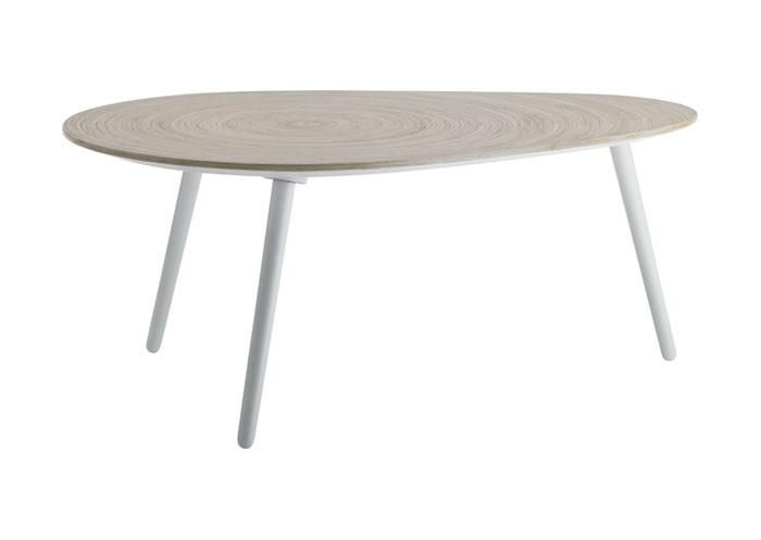 Sofabord i organisk design. Dråbeformet.