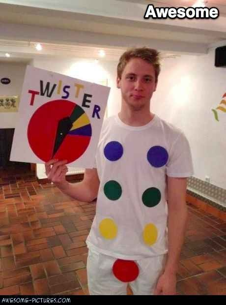 Twister Costume    I didn't know where else to pin this! Its SO FUNNY!!!!