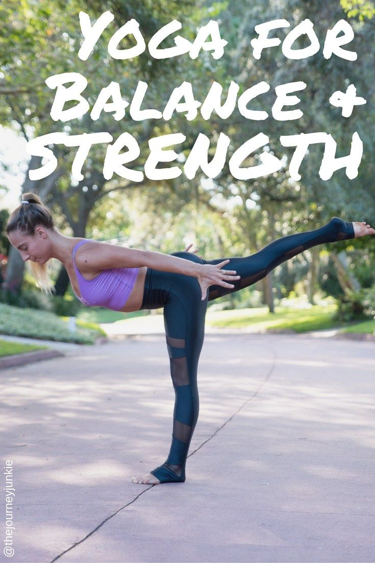 Yoga Flow for Balance & Strength - 35 Minute Class - Pin now, get strong now!