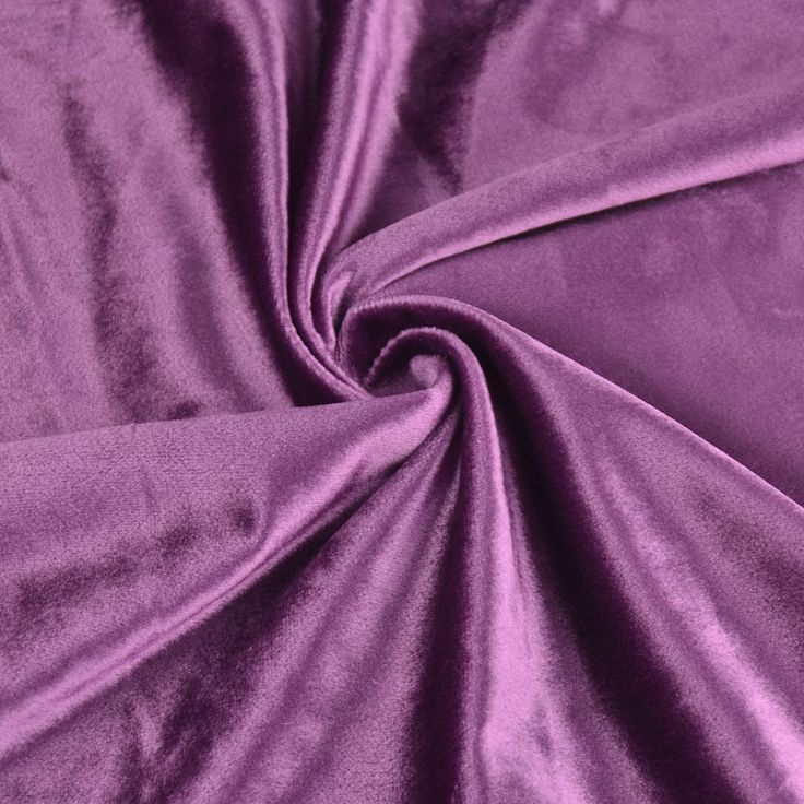 Hotham Pink Red and Purple Plain Ready Made Velvet Curtains and Fabrics Byzantium Color