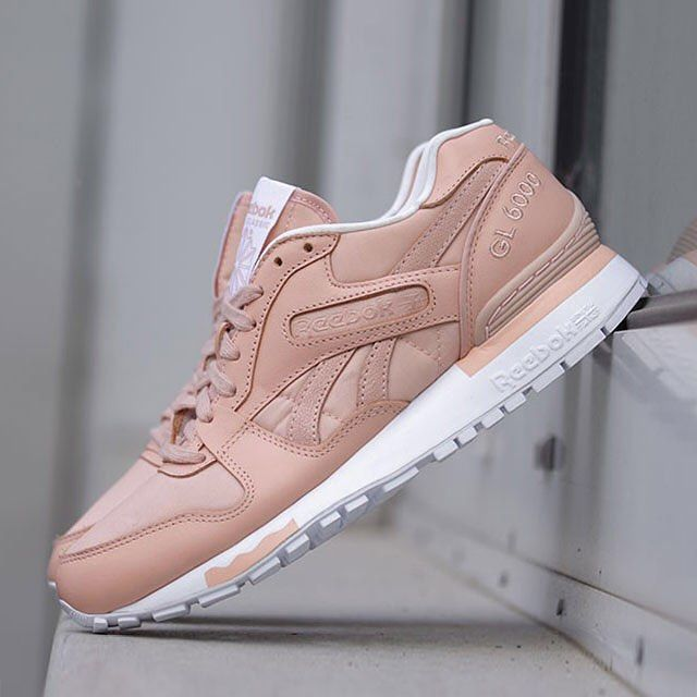 Rose Gold leather adorns this Reebok GL 6000 release. Thoughts? More  details in the