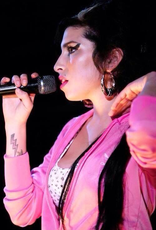 - Amy Winehouse in Pink Jacket -