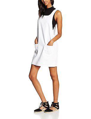16, White, New Look Women's Martha Pinny Dress NEW