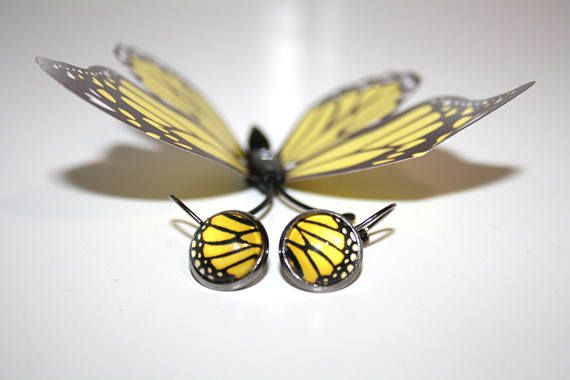 Hey, I found this really awesome Etsy listing at https://www.etsy.com/listing/557169996/butterfly-wing-earrings-glass-cabochon