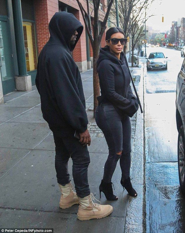 She has tried: Kim wrote to Rob during his birthday in March, 'Happy Birthday to my one and only brother Robbie!!!!... I love you so much and can't wait to share so many more memories with you! Kiki [loves] Riki!!!!'; here Kim is pictured with Kanye West in NYC on Tuesday