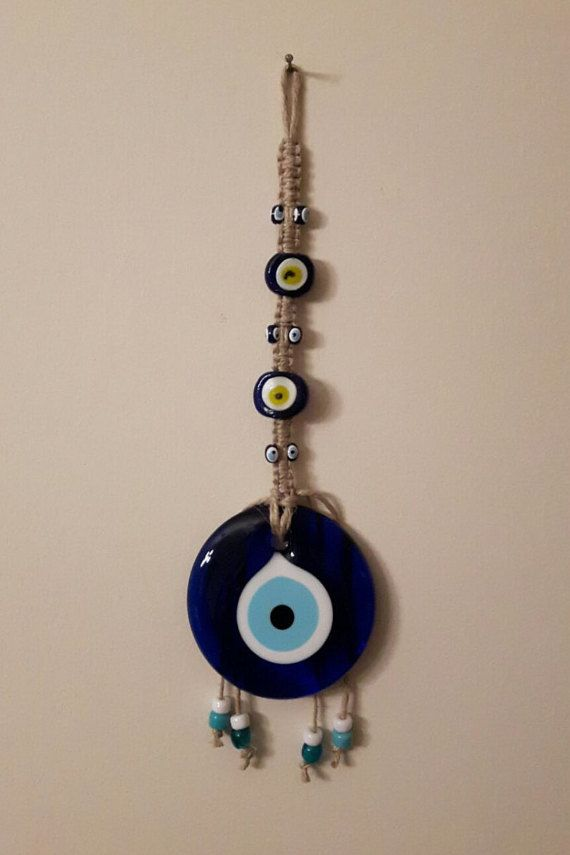 Evil Eye Wall Hanging by TURKISHjoy on Etsy