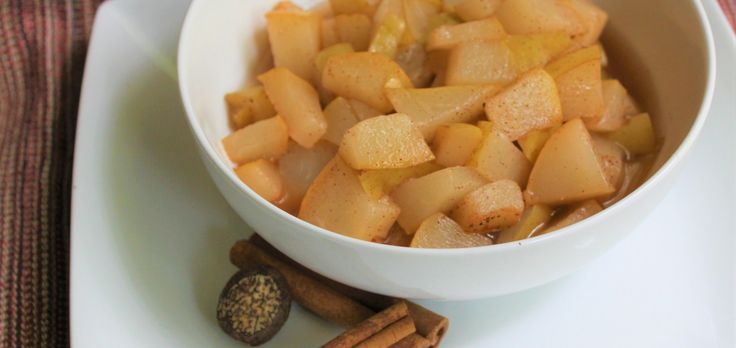 Cinnamon Spice Pear Compote Recipe easy, fall recipe, nutmeg, cinnamon spice, pear, paleo, gluten free, dairy free, vegan recipe, egg free, soy free