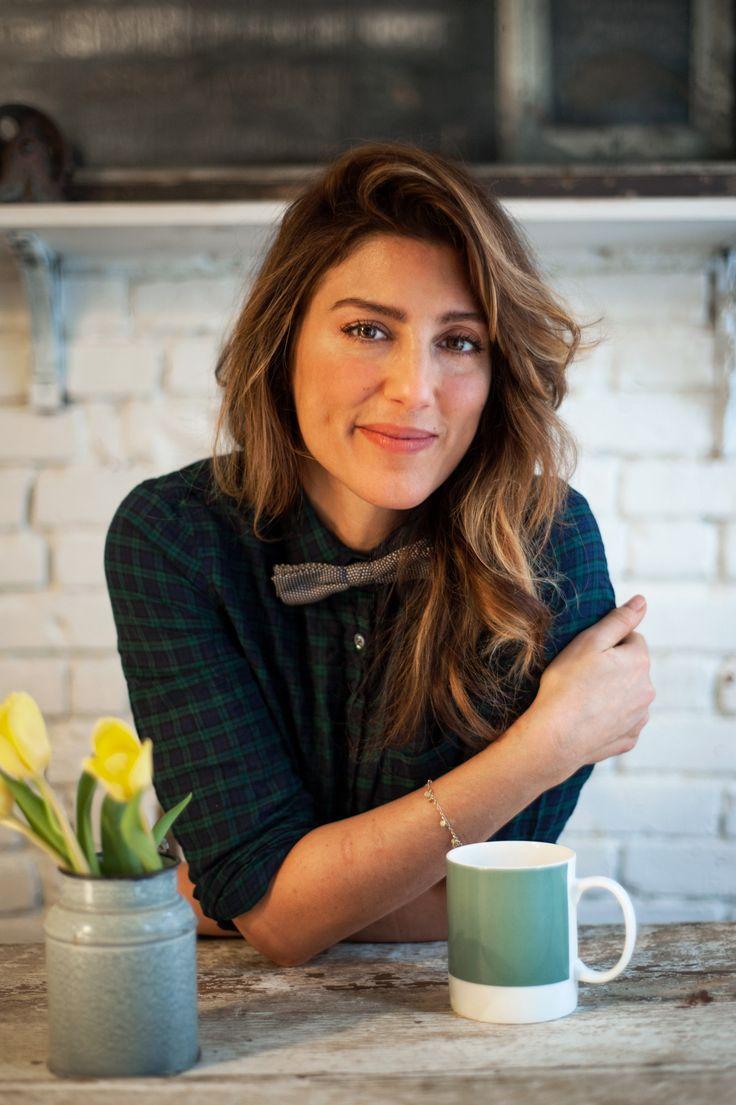 Jennifer Esposito at her New York Bakery, Jennifer's Way