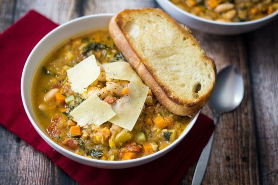 Easy Tuscan Bean Soup (30 Minute Mondays!) 10/18/15 Will make this again. Good flavor and hearty texture. Next time I won't add the hot pepper flakes as it was a bit spicy. ScM