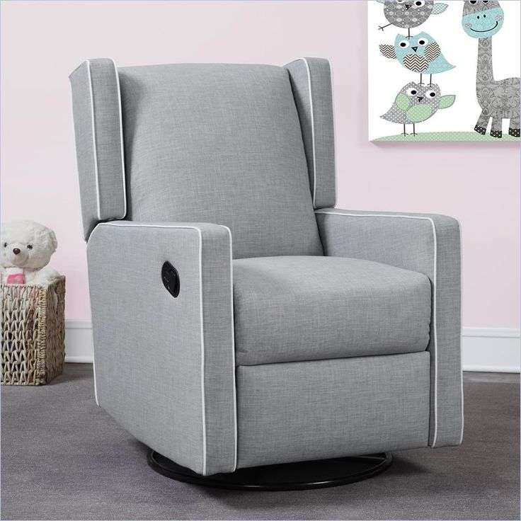 combining style and comfort the monbebe everston swivel glider recliner is the perfect seating solution the chair has a smooth gliding