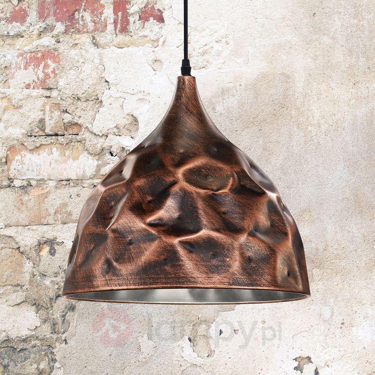 Miedziana lampa wisząca Maira 9004801