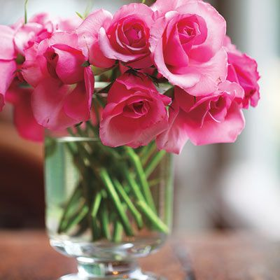 Preserve Cut Flowers: Save your bouquet by mixing a few drops of vodka with a teaspoon of sugar to inhibit the production of ethylene, which makes flowers wilt (Photo: Beth Perkins)