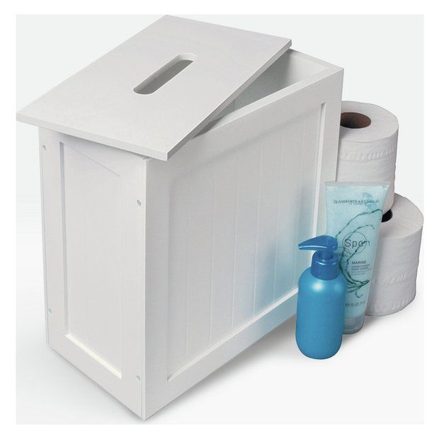Buy Argos Home Slimline Shaker Unit With Lid White At Argos Thousands Of Products For Same Day Deli Argos Home Bathroom Storage Boxes White Bathroom Shelves