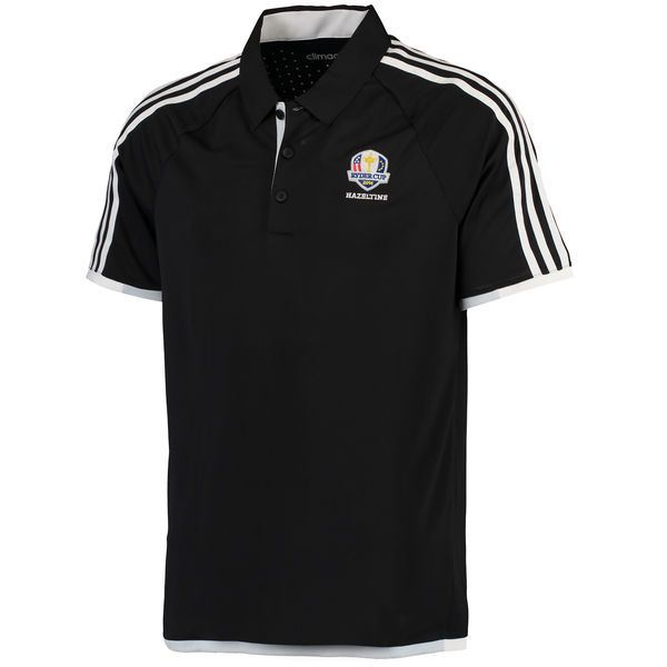 adidas 2016 Ryder Cup 3-Stripe climachill Competition Polo - Black/White - $67.49