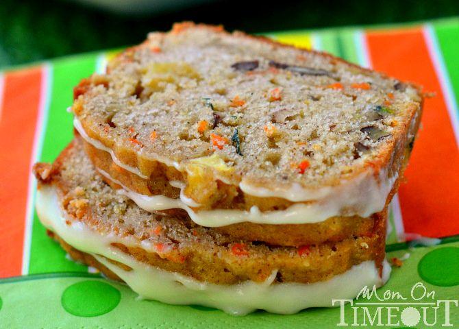 Carrot Zucchini Apple Bread | MomOnTimeout.com Delicious AND healthy! #zucchini #bread #recipe