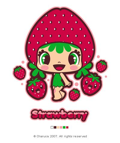Charuca Cute Strawberry by charuca, via Flickr