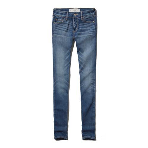 Womens A&F Alyssa Super Skinny Jeans