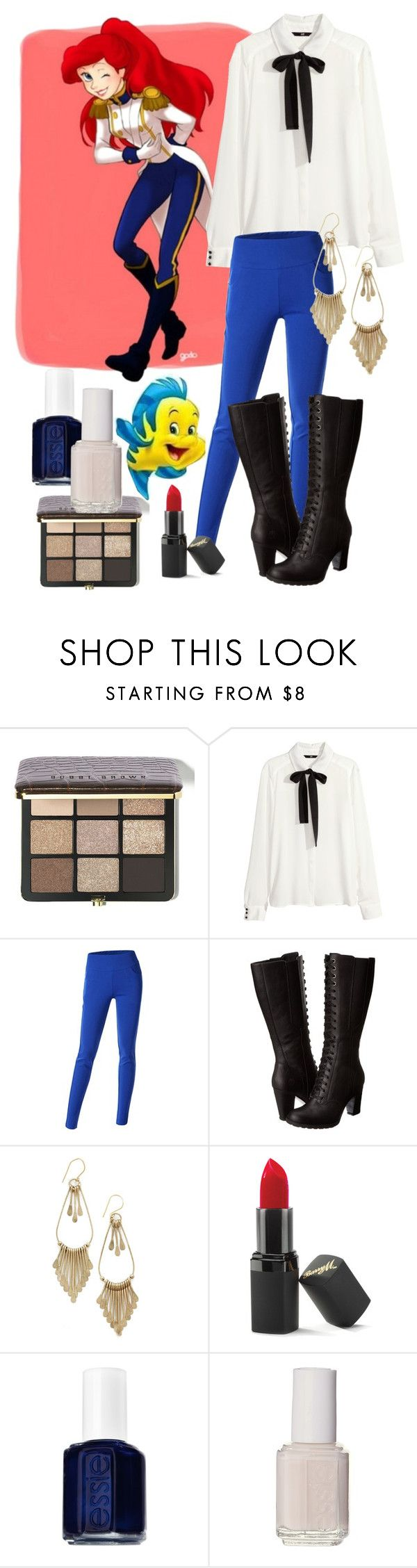 """""""Modern Ariele - Prince Erik's style"""" by catherinetabor ❤ liked on Polyvore featuring Bobbi Brown Cosmetics, Disney, H&M, Doublju, Timberland, Barry M, Essie and modern"""