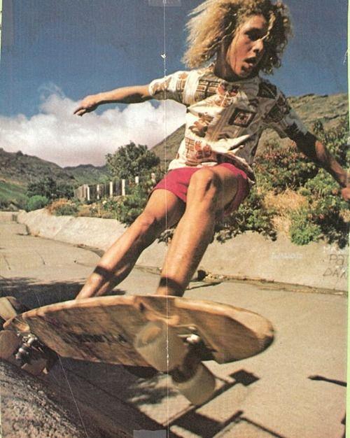 Skateboarder Tony Alva, 1975.