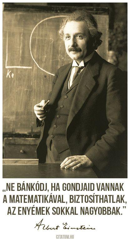 Albert Einstein idézete a matematikáról.