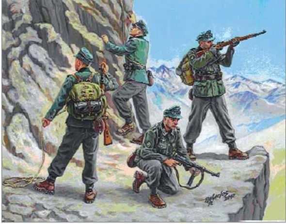 ZVEZDA 6154 Chasseurs Alpins Allemands