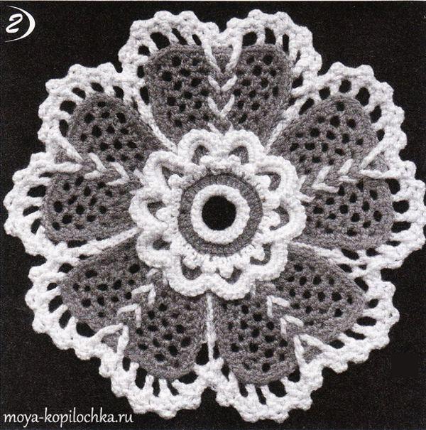 Ирландские кружева. Цветы с надвязками