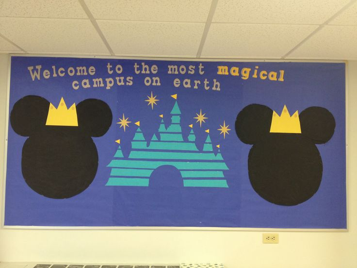 Disney Welcome RA Bulletin Board #ResidentAssistant #RA #Ideas #Crafting