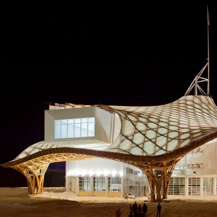 Shade Structure for the pool area?- Shigeru Ban