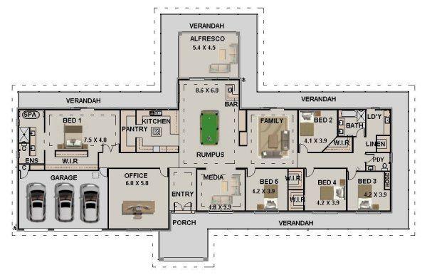 5 Bed Office 2 Bath 3 Car Acreage Home
