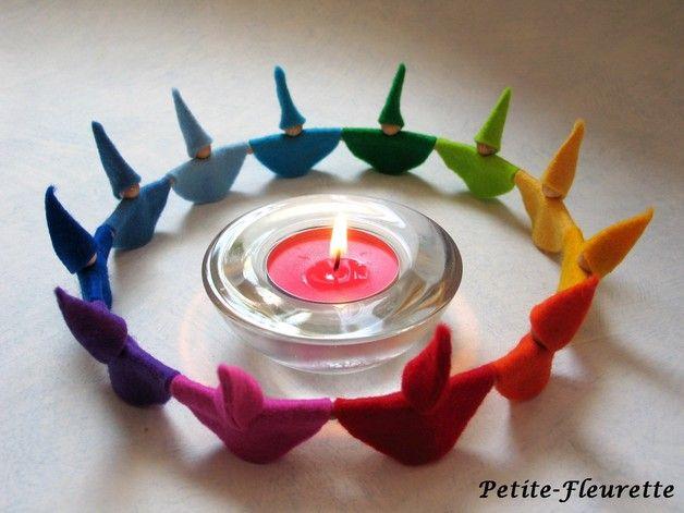 Dekoration - Zwergenkreis *12* - ein Designerstück von Petite-Fleurette bei DaWanda