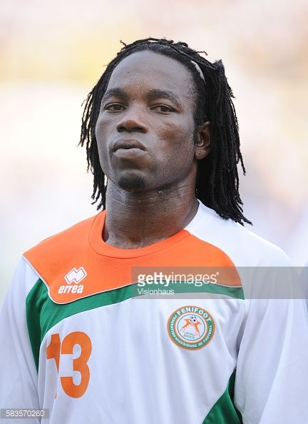 Mohamed Chicotto of Niger during the 2012 African Cup of Nations Group C match between Gabon and Niger at the Stade de l'Amitie in Libreville Gabon...