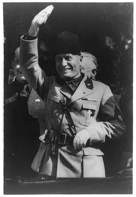 """Il Duce"", Benito Amilcare Andrea Mussolini. Dictador italiano, partidario del régimen fascista, llevó a Italia a la guerra en 1940."