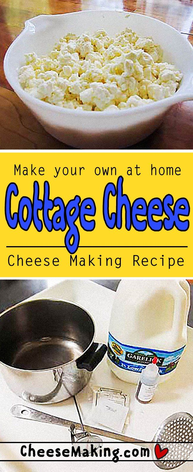 Это легко сделать свой собственный творог в домашних условиях.  С помощью этого фантастического рецепта вы можете насладиться свежим домашним творогом в кратчайшие сроки.  Он даже включает в себя историю и забавные факты о творогом!  Cheesemaking.com