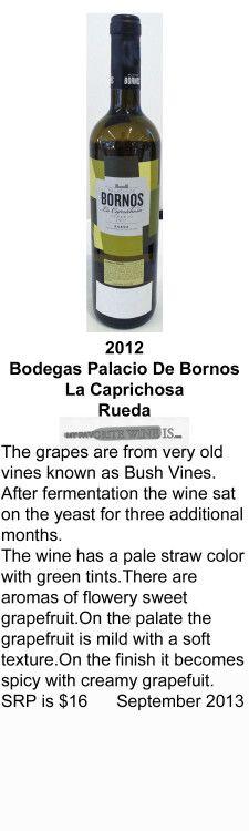 2012 Bodegas Palacio De Bornos La Caprichosa Verdejo