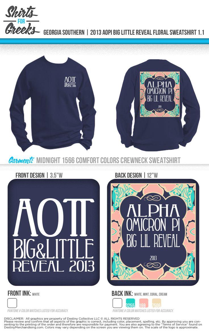 Design t shirt idea - Aopi Big Little Reveal Pretty Boarder Long Sleeve Tshirt Ideas Shirtsforgreeks