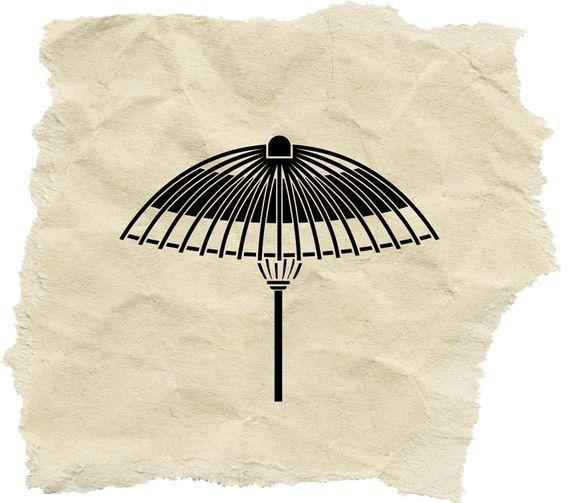 Japenese umbrella - an unique stamp