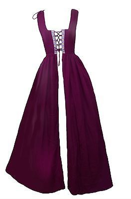 Renaissance-Medieval-Irish-Costume-Over-Dress-Fitted-Bodice-XXS-XS-S-M-L-XL-2X-3