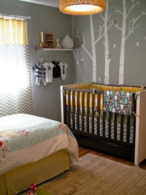 Baby and Toddler bedroom girl and boy combination
