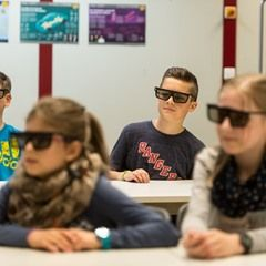 Cyber Classroom at a school in St. Georgen im Schwarzwald, Germany