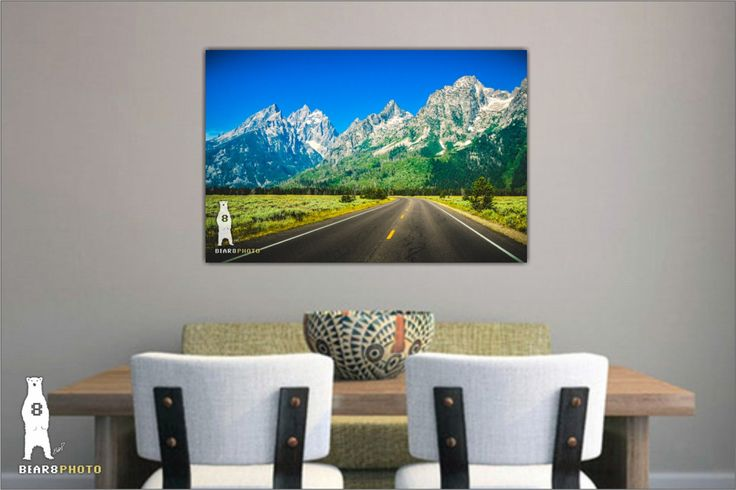 Large Mountain Photography, Gift for Traveler, National Park Print, Landscape Photography, Country Roads, Teton National Park, Wyoming by Bear8Photo on Etsy