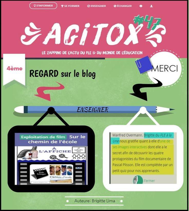 Le FLE à la Une sur AGITOX nº47 parle de l'a... by Brigite Lima