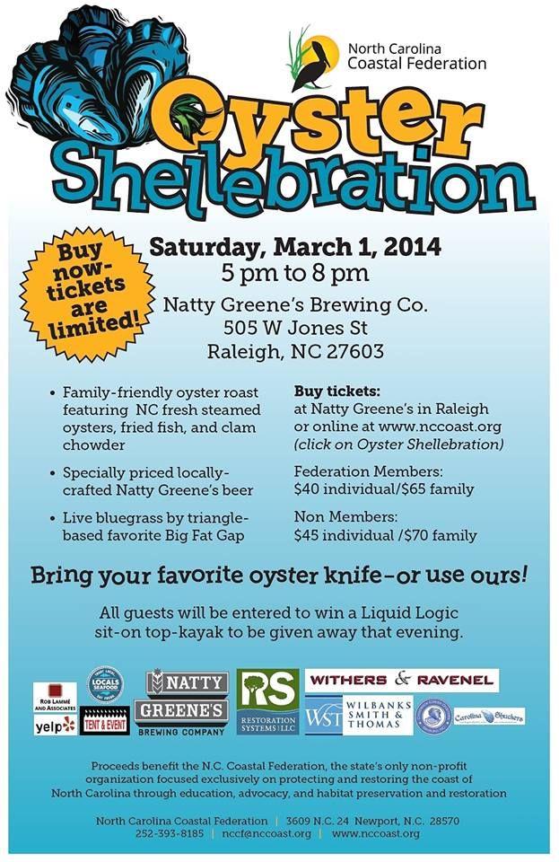 2014 NC Coastal Federation Oyster Shellebration - Raleigh