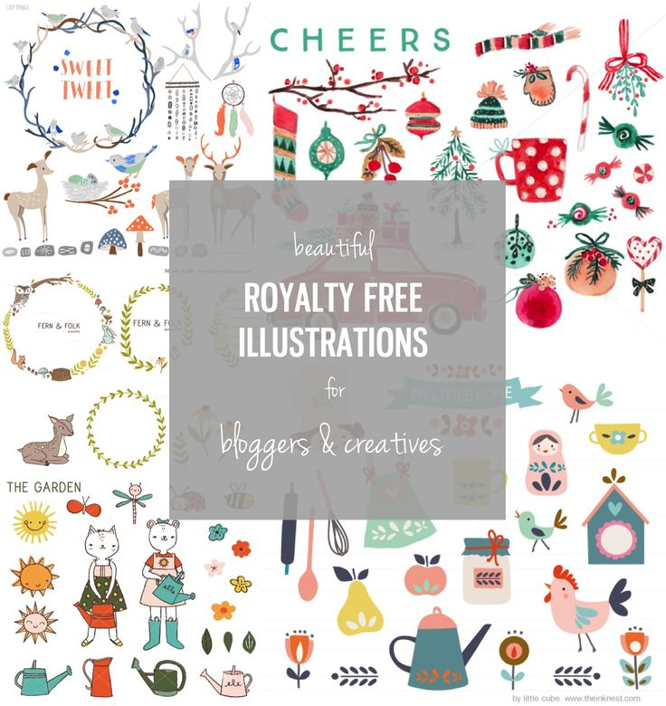 Royalty free illustrations for bloggers & creatives - a fabulous resource that every blogger should know about. You can even use these illustrations to design your blog and a lot more.