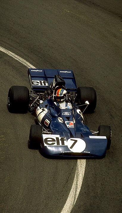 Francois Cevert, Tyrrell 002, France GP, Circuit Charade, 1972.