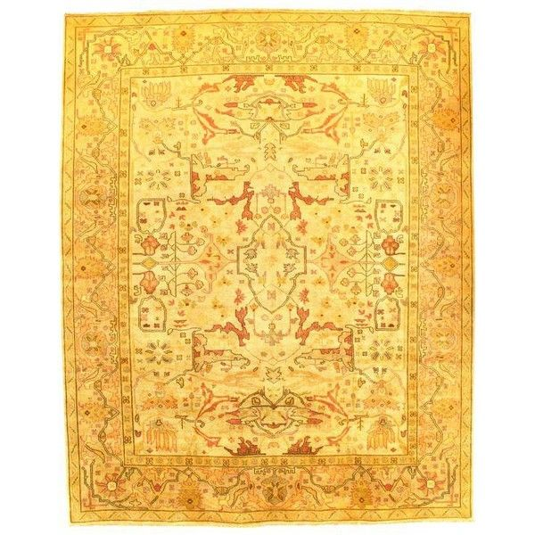 """Pasargad N Y Oushak Design Hand-Knotted Rug - 8'1"""" X 9'10"""" (5.955 BRL) ❤ liked on Polyvore featuring home, rugs, traditional handmade rugs, handmade area rugs, ushak rug, hand knotted area rugs, oushak rugs and hand knotted rugs"""