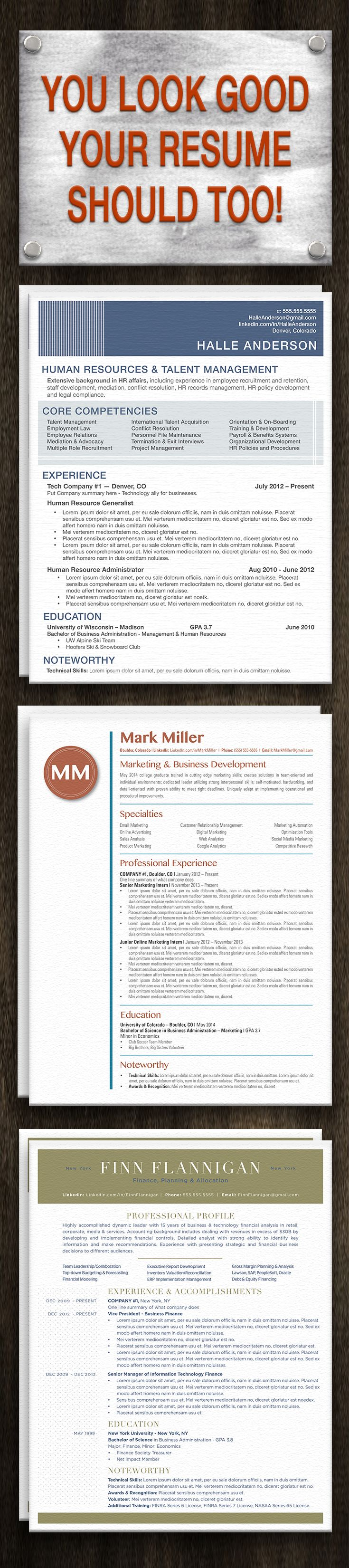 Your resume should look as good as you do!