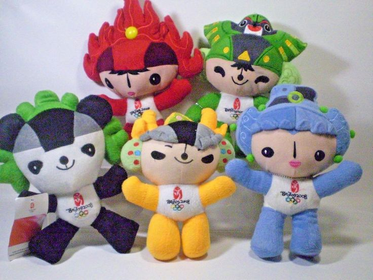 Beijing Olympics Mascot Plush Set of 5  Official 2008