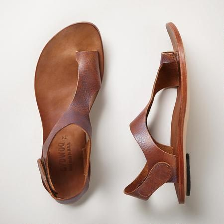 Tan leather thong sandals -just add a white dress for perfect summer style