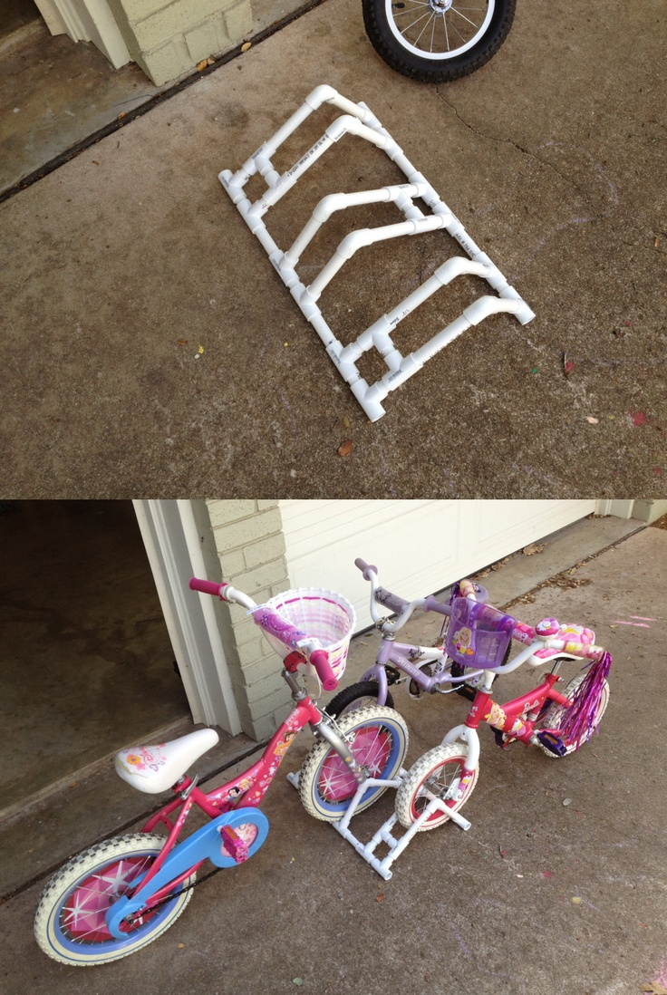 how to build a pvc bike rack