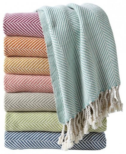 contemporary throws by Serena & Lily wish for me: Herringbone Throw, Color, Mount Herringbone, Autumn Throw, Plum Herringbone, Herringbone Blankets, Lilies Herringbone, Cotton Herringbone, Throw Blankets